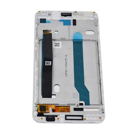PANTALLA LCD DISPLAY + TACTIL CON MARCO PARA ASUS ZENFONE 3 MAX ZC520TL - BLANCA