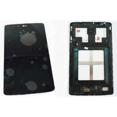 PANTALLA TACTIL + LCD DISPLAY CON MARCO ORIGINAL TABLET LG PAD 8.0 V490, V480 - NEGRA