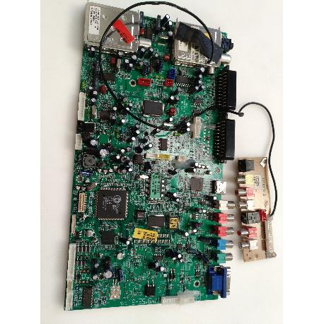 PLACA BASE MAIN BOARD Y ENTRADA AV 17MB15E-5 Y 17FAV15-2 PARA TV SAIVOD LCD-626CI-E - RECUPERADAS