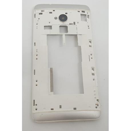 CARCASA INTERMEDIA CON LENTE DE CAMARA ORIGINAL PARA HTC ONE MAX 803N - RECUPERADA