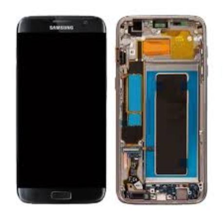 PANTALLA LCD + TACTIL CON MARCO ORIGINAL SAMSUNG GALAXY S7 EDGE SM-G935F NEGRA - RECUPERADA