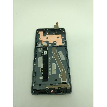 PANTALLA LCD DISPLAY + TACTIL CON MARCO PARA BQ AQUARIS X5 PLUS / REMANUFACTURADA - NEGRA