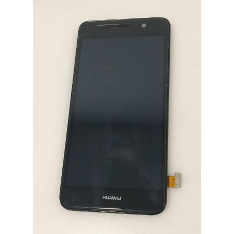 PANTALLA TACTIL + LCD DISPLAY CON MARCO PARA HUAWEI Y6 (SCL-L01) / HONOR 4A NEGRA - RECUPERADA