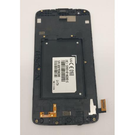 PANTALLA LCD DISPLAY + TACTIL CON MARCO PARA LG K8 K350N - BLANCA