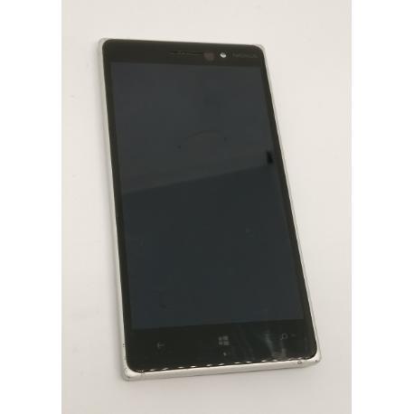 PANTALLA LCD DISPLAY + TACTIL CON MARCO ORIGINAL PARA NOKIA LUMIA 830 - BLANCA - RECUPERADA