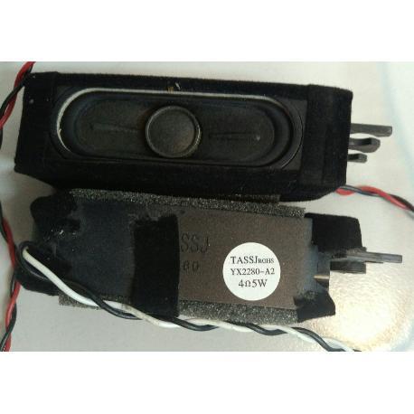 SET DE ALTAVOCES BUZZERS YX2280-A2 PARA TV B22E-LED1 - RECUPERADOS