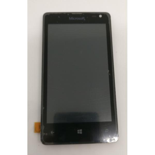 REPUESTO PANTALLA LCD + TACTIL CON MARCO ORIGINAL PARA NOKIA LUMIA 435 NEGRA - RECUPERADA