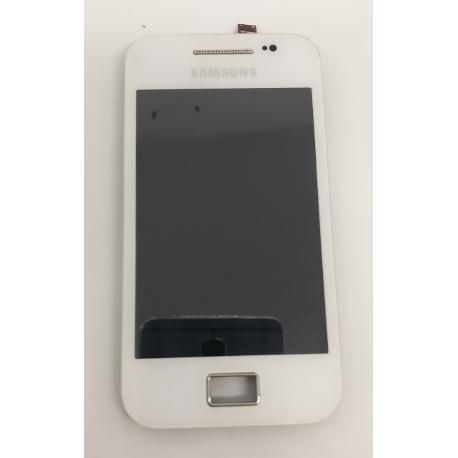 PANTALLA LCD + TACTIL CON MARCO ORIGINAL PARA SAMSUNG GALAXY ACE S5830 BLANCA - RECUPERADA