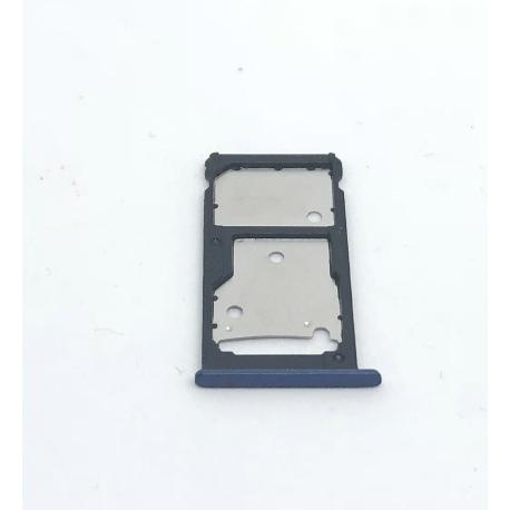 BANDEJA DE TARJETA SIM Y SD PARA HUAWEI Y7 PRIME, HOLLY 4 PLUS, ENJOY 7 PLUS - AZUL