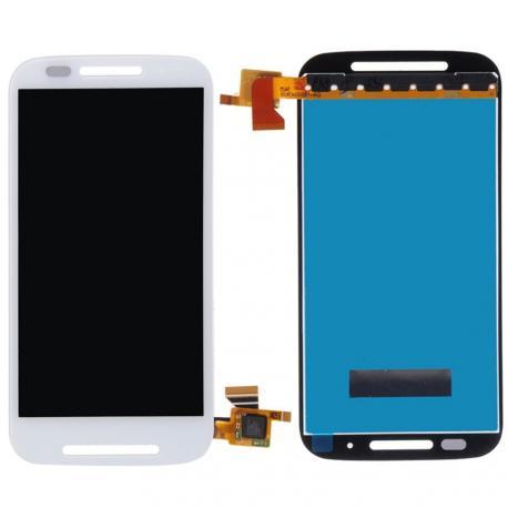 Repuesto Pantalla Tactil + Lcd Motorola Moto E XT1021 XT1022 XT1025 Blanca