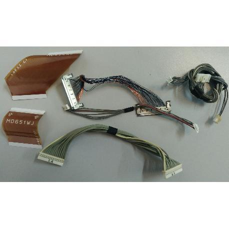 SET 2 DE CABLES PARA TV SHARP LC-32P70E - RECUPERADOS