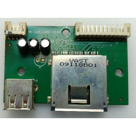 MODULO DE CONEXIÓN DE TARJETA Y USB HK-USB-CARD-V2.68 PARA TV I-JOY LDI 32PPBI - RECUPERADO