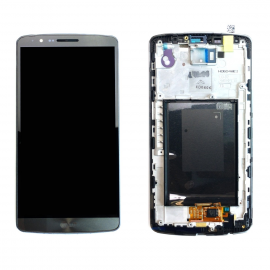 Pantalla Tactil + LCD Display con Marco Original para LG Optimus G3 - Gris