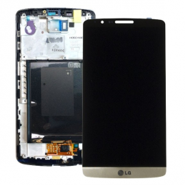 Pantalla Tactil + LCD Display con Marco para LG Optimus G3 - Oro