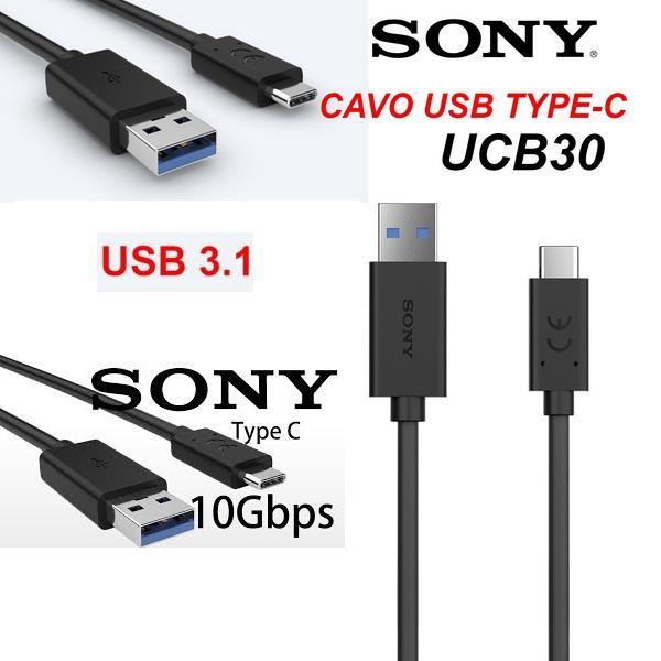 CABLE DE DATOS Y CARGA RAPIDA USB-C  SONY UCB30