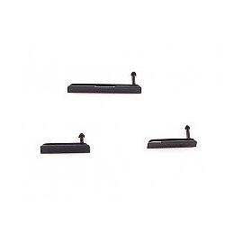 Set de Tapa de Tarjeta Micro SD, Sim y Conector de Carga para Sony Xperia Z1 - Negra