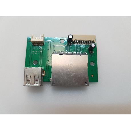 PLACA LECTOR DE SD + USB B.CNTL2A 7172 PARA TV LENCO DVT-2451 - RECUPERADA