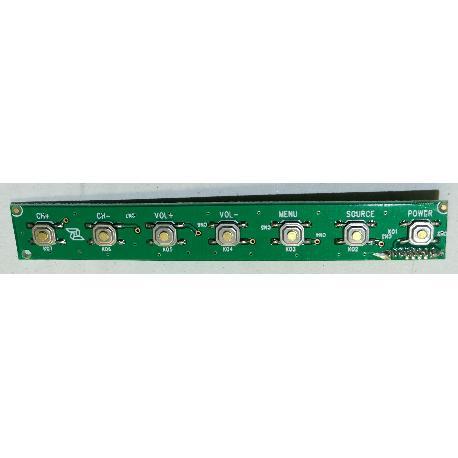 MODULO DE BOTONES M8 ID 236 KEY V2.0 PARA TV TD SYSTEMS K40DLM3F - RECUPERADO