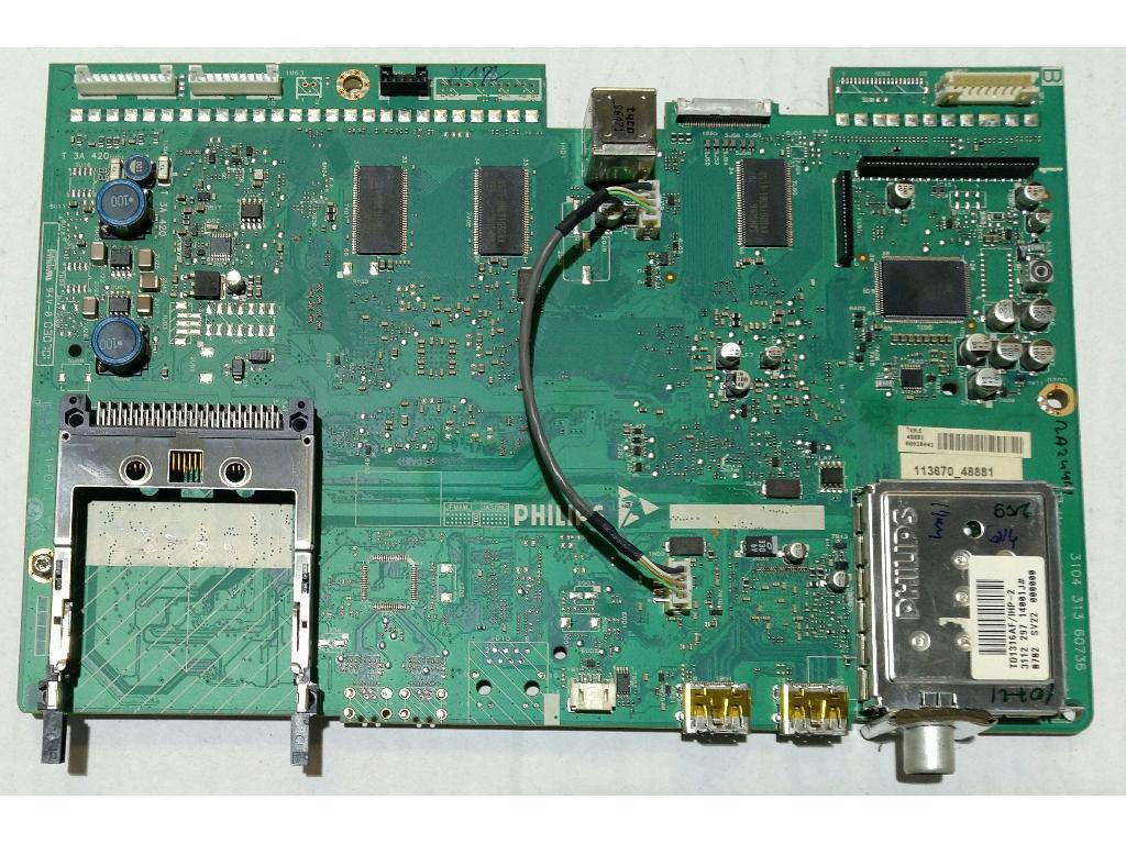 Placa Base Main Board 3104 313 60736 Para TV Philips 32PF9641D/10 -  Recuperada