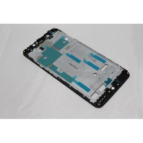 MARCO FRONTAL DE LCD DISPLAY PARA BQ AQUARIS V , U2 , U2 LITE - NEGRO