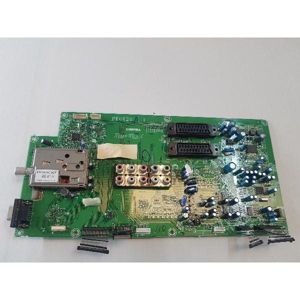 PLACA BASE MAIN MOTEHER BOARD V28A000000501 PARA TV TOSHIBA 37WL66Z - RECUPERADA