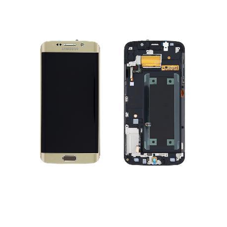 PANTALLA LCD + TACTIL ORIGINAL SAMSUNG GALAXY S6 EDGE SM-G925F DORADA ORO USADA