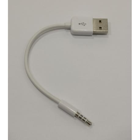 CABLE JACK DE AUDIO A USB MACHO - BLANCO