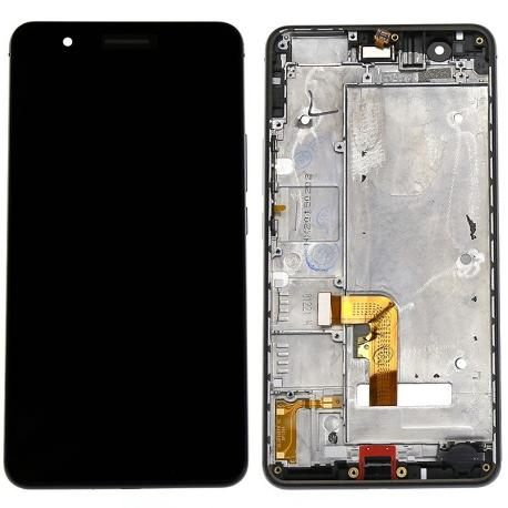 REPUESTO PANTALLA TACTIL + LCD DISPLAY CON MARCO PARA HUAWEI HONOR 6+ PLUS - NEGRO