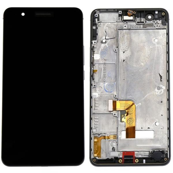 REPUESTO PANTALLA TACTIL + LCD DISPLAY CON MARCO PARA HUAWEI HONOR 6+ PLUS - NEGRO