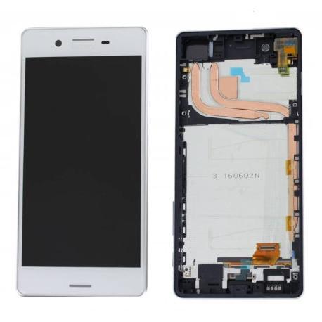 PANTALLA LCD DISPLAY + TACTIL CON MARCO PARA SONY XPERIA X PERFORMANCE F8131, F8132 - BLANCA