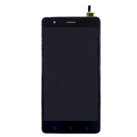 PANTALLA LCD DISPLAY + TACTIL CON MARCO PARA LENOVO K5 NOTE - NEGRA