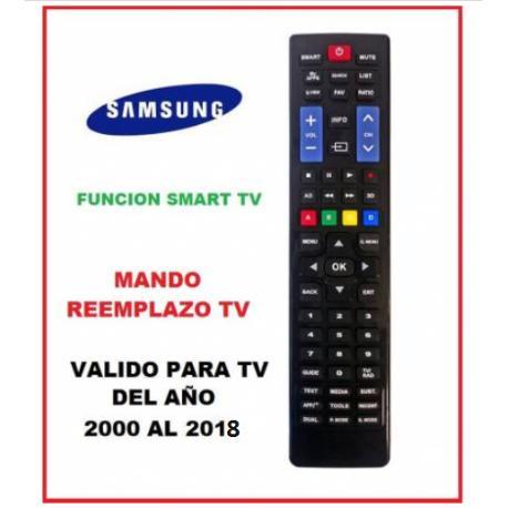 MANDO A DISTANCIA COMPATIBLE PARA TV SAMSUNG FABRICADAS APARTIR DEL AÑO 2000 - 2018
