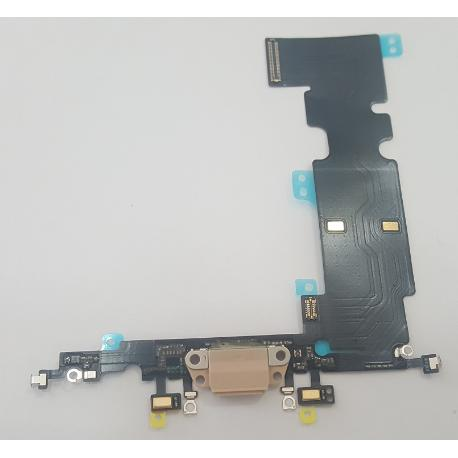 MODULO CONECTOR DE CARGA / DATOS Y MICROFONO PARA IPHONE 8 PLUS - DORADO