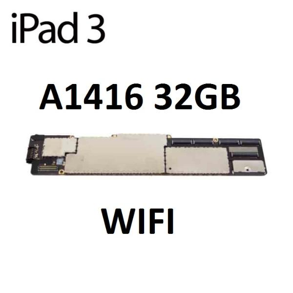 PLACA BASE ORIGINAL APPLE IPAD 3 A1416 WIFI 32GB - RECUPERADA