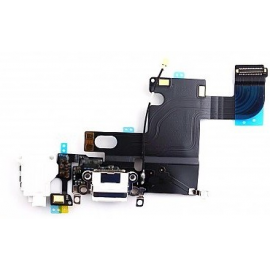 Flex Conector de Carga, Jack de Audio y Microfono para iPhone 6 - Blanco