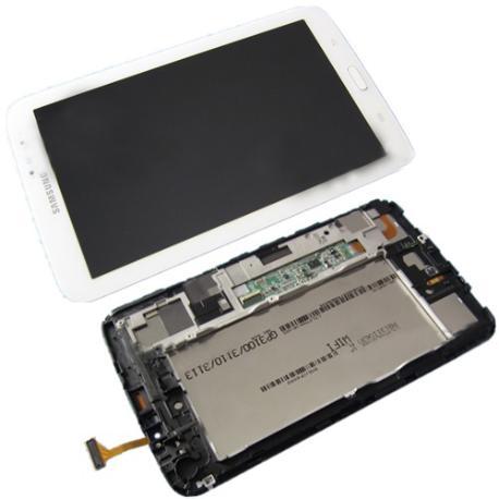 PANTALLA TACTIL + LCD DISPLAY CON MARCO ORIGINAL PARA SAMSUNG SM-T210 GALAXY TAB 3 7.0 WIFI - BLANCA