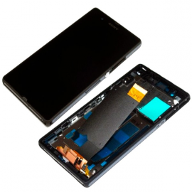 Pantalla LCD Display + Tactil con Marco para Sony Xperia Z C6603 L36H - Negra / Desmontaje