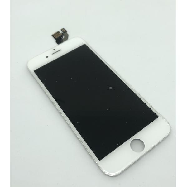 REPUESTO PANTALLA LCD  + TACTIL CON MARCO FRONTAL - IPHONE 6 - BLANCO
