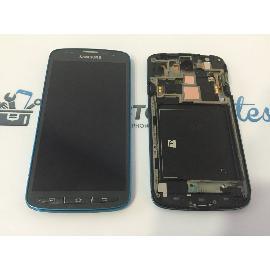 PANTALLA LCD + TACTIL CON MARCO AZUL ORIGINAL SAMSUNG GALAXY S4 ACTIVE I9295 - RECUPERADA