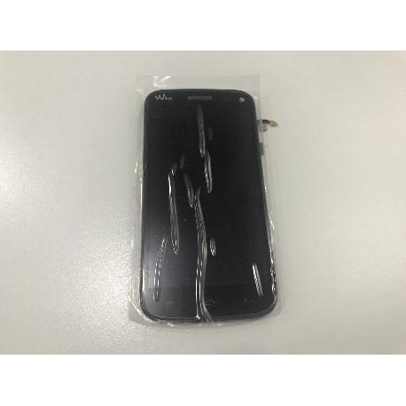 PANTALLA LCD DISPLAY + TACTIL CON MARCO ORIGINAL PARA WIKO DARKMOON NEGRA - RECUPERADA
