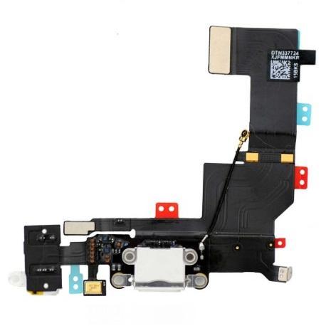 FLEX CONECTOR CARGA, MICROFONO Y JACK DE AUDIO PARA IPHONE 5S - ORIGINAL USADO RECUPERADO