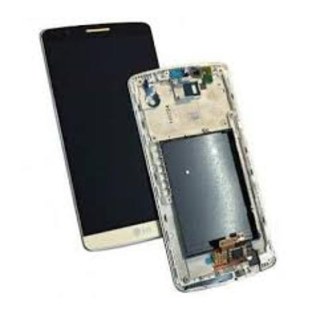 PANTALLA LCD DISPLAY + TACTIL CON MARCO ORIGINAL PARA LG G3 D855 ORO - RECUPERADA