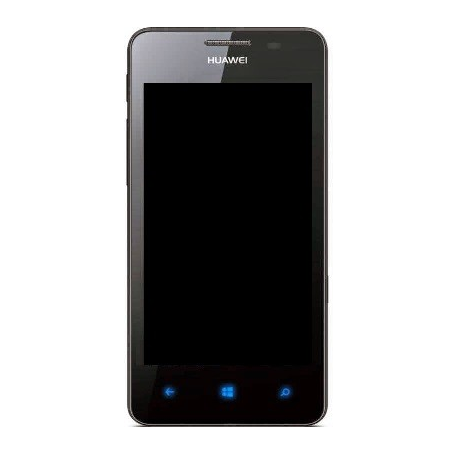 Pantalla lcd + tactil con Marco Huawei Ascend W2 Negra