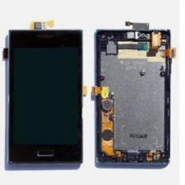 Pantalla lcd + tactil con Marco LG Optimus L5 E610 Negra - REcuperada