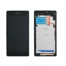 Pantalla LCD + Tactil con Marco Sony Xperia Z2 D6503 D6502 Negra