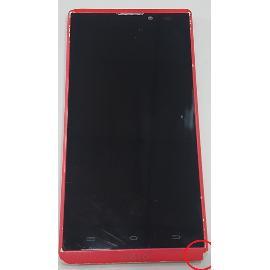 PANTALLA LCD DISPLAY + TACTIL CON MARCO ROSA PARA WOXTER ZIELO Z -400 - RECUPERADA TARA