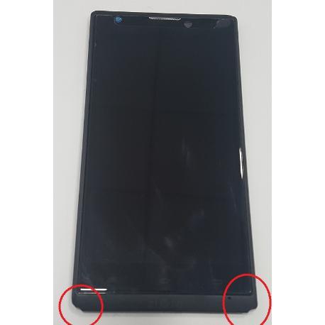 PANTALLA TACTIL + LCD DISPLAY CON MARCO ORIGINAL PARA WOXTER ZIELO Z-420 HD , Z-800 HD - RECUPERADA CON TARA