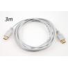 Cable HDMI macho a HDMI macho 3 metros Blanco