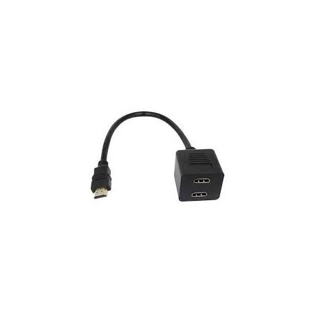 Cable duplicador de un HDMI macho a dos hembras HDMI