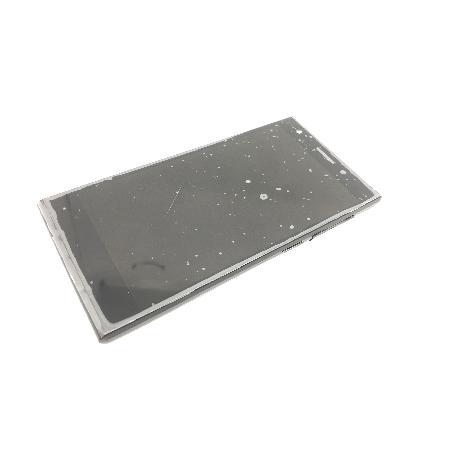 PANTALLA LCD + TACTIL CON MARCO ORIGINAL ZTE BLADE VEC 4G ORANGE RONO NEGRA - REMANUFACTURADA